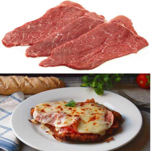 ternera hecha al horno con tomate y queso